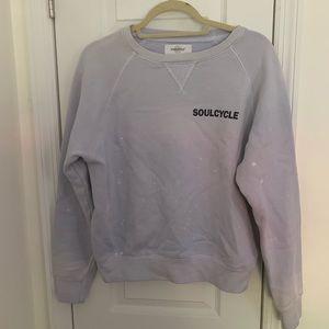 NWOT SoulCycle Lilac Crew Cities Sweatshirt Sz Sm